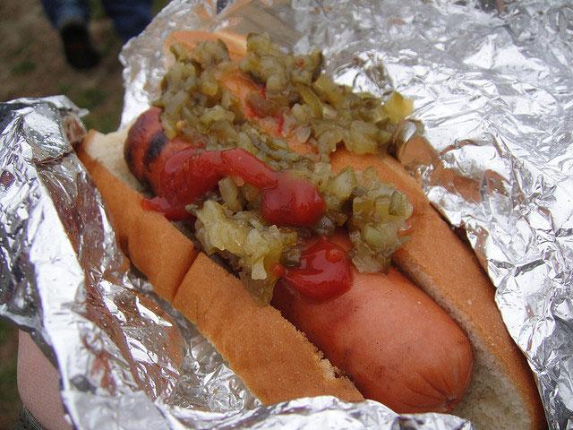Un nuevo récord de comer hot-dog
