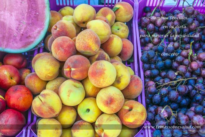 7 cambios en la dieta para mejorar la posibilidad de concebir
