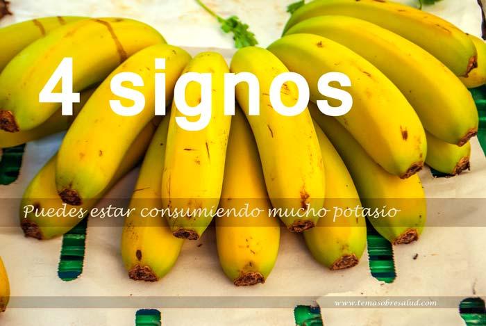 4 signos de que puedes estar consumiendo demasiado potasio