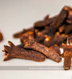 El aceite esencial de clavo de olor es usado para calmar los dolores dentales