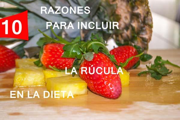rúcula en la dieta